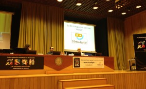 Jonathan Chacon hablando del proyecto Virtuassist