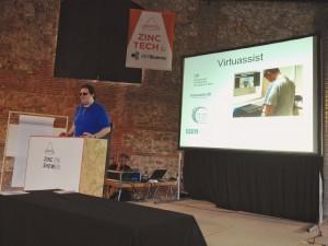 Jonathan Chacón hablando del proyecto Virtuassist y sus beneficios para las personas