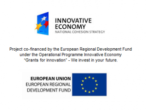 Logo de Unión Europea (Project co-financed by the European Regional Development Fund under the Operational Programme Innovative Economy