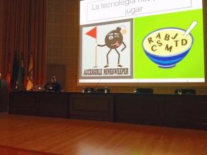 Jonathan Chacón hablando sobre la tecnología para el ocio accesible